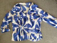 Designer retro Ladies Size 12 Shirt Blouse