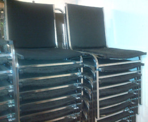Black or Brown Stackable / Stacking Chairs