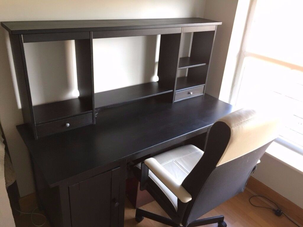 Ikea Hemnes Desk Complete With Add On Unit Office Chair