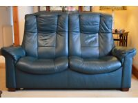 Ekornes Stressless highback leather reclining sofa and arm chair