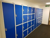10 x Locker units, various sizes, ideal for home/office/gyms all complete with keys.
