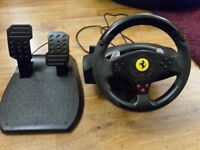 Thrustmaster Ferrari GT Steering Wheel PC/ PS3 / PS2 /