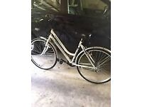 BIKE, TWO LADIES HYBRID TOWN BIKES IN GOOD CONDITION WITH LIGHTS AND FREE DELIVERY