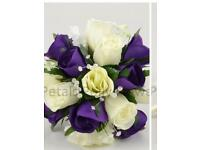 Cadburys purple bridesmaid bouquet