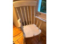 Large vintage wooden chair