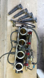 Throttle bodies, injectors, airbox and K&N filter $100