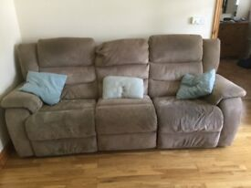 DFS 3 seater sofa and matching electric recliner