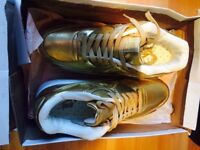 Pure leather liquid gold Nike Air Max UK 7-7.5