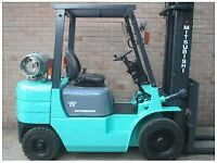 2x Mitsubishi forklift for sale ready for work bargain work horse gas and diesel