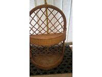 Wicker/Cane Shelf Unit - ideal for conservatory