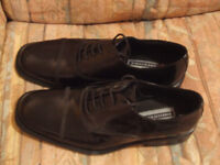 MENS BLACK LEATHER OXFORD STYLE SHOES
