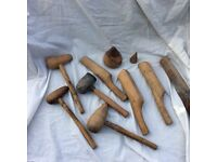 Wooden lead shaping tools