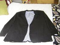 Mens M&S Linen Jacket - Black - size 50 Short