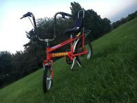 Old school Raleigh chopper / pedal bike carrera cube trek specialised