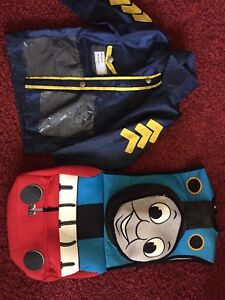 Child's Thomas the Tank and Police costume
