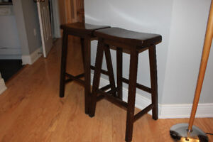 Solid Wood Bar Stools - $40 Each