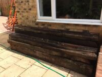 Reclaimed railway sleepers 8ft long Collect only.