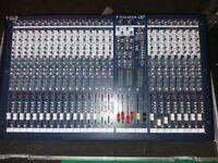 Soundcraft LX7 16 track mixing deck with heavy duty flight case £300 ono