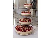 Wedding cake stand - 4 tier chrome