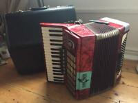 WELTMEISTER STELLA 80 Bass piano accordion with hard case