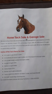 Horse Tack Sale and Garage Sale
