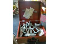 Quality Metal Sextant in Wooden Box for sale