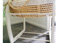 Beautiful rocking mamas and papas Moses basket
