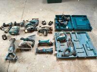 Makita 18v various tools