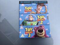 Toy story box set 12&3 blu ray never played