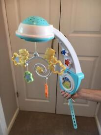 Fisher Price Lights and Sounds Cot Mobile