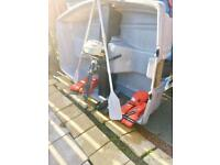 Plastimo Fishing Boat with 3.5cc Outboard engine, Life jackets and Oars. £300