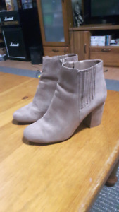 Size 7-8 Tan Suede Booties