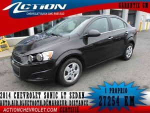 2014 CHEVROLET SONIC LT SEDAN,AUTO,AIR,BLUETOOTH
