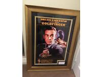 Autographed Poster Sean Connery as James Bond