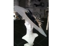 A Beautiful Navy/Ivory Wedding/Races Hat
