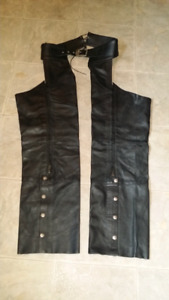 Black leather chaps