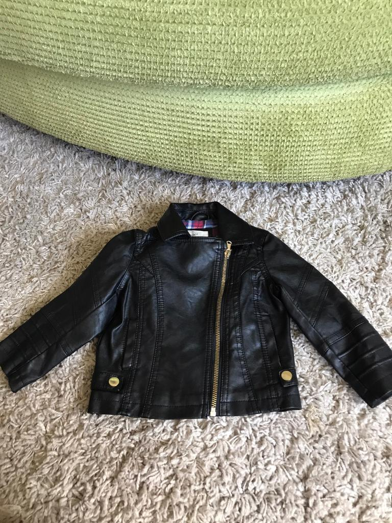 River IslandsUnisex black leather look biker jacketin Huyton, MerseysideGumtree - In perfect condition from pet and smoke free home. Black leather look biker jacket unisex