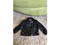 River Islands - Unisex black leather look jacket