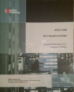 PSYC 1100 PSYCHOLOGY BY Ravi Ramkissoonsignh - Used As New