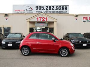 2012 Fiat 500C Lounge, Red Leather, Navi, WE APPROVE ALL CREDIT