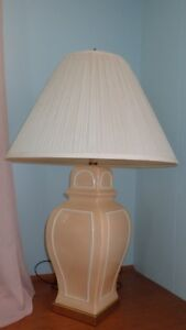 China Table Lamp, Buttercup Yellowish color