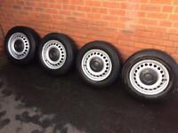 VW T5 4x steel wheels