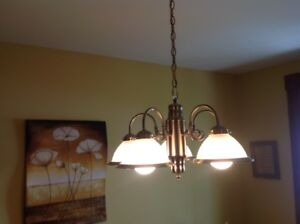 5 Globe Chandelier Excellent Condition and Working Great Works