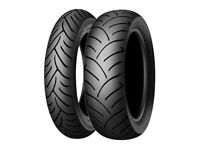Pair Dunlop ScooterSmart 140/60-14 64 S Rear & 120/70-15 56 S Front Tyres