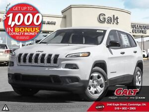 2016 Jeep Cherokee SPORT | X COMPANY DEMO | ONLY $148 BI-WEEKLY