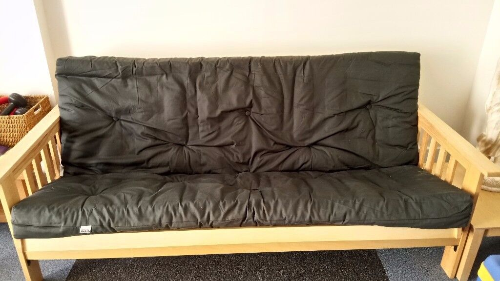 DOUBLE BED SIZED FUTON READY FOR COLLECTION.