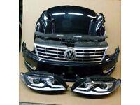 Car part: single unit front end VW Passat CC Facelift 2015 LHD headlight Bonnet Bumper Radiator