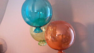 Glass hanging balloons