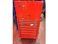 Snap on tool roll cabinet with draws & chest with 9 draws