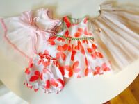 3 beautiful party dresses Age 6-9 Months
